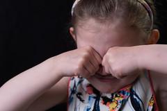 She was pretending to cry... (joocer.) Tags: playing black girl smiling studio kid nikon child background crying softbox littlesister hairband d800 pretend 5yo strobist elinchromdliterxone
