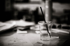Lemonade (w.mekwi photography) Tags: cup monochrome closeup table dof bokeh straw lemonade niftyfifty nikond800 wmekwiphotography hmbt