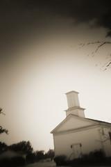 Dickey Presbyterian Church (Mike McCall) Tags: usa church rural dark georgia worship gothic christian dickey protestant presbyterian calhouncounty copyright2016mikemccall