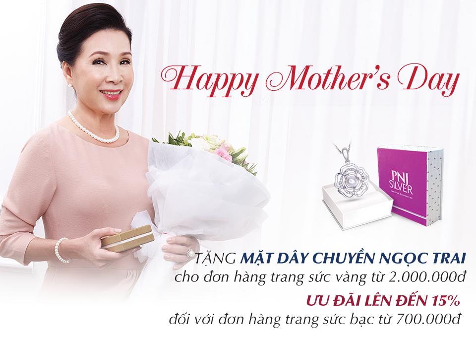 Quà tặng trao gửi yêu thương cho ngày của mẹ với PNJ online shopping