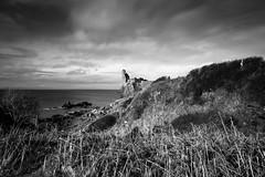 Dunure Castle (Daisy Swain) Tags: longexposure sky blackandwhite castle clouds landscape scotland ruin east historicscotland ayrshire dunure neuk dunurecastle visitscotland canon1740mm canon6d
