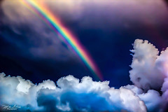 Cotton Candy Rainbow (mikederrico69) Tags: blue sky storm colors weather clouds season rainbow