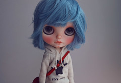 Ayanami Rei meets (k07doll) Tags: cute bigeyes doll sweet blythe custom cubby blythedoll rbl customblythe blythecustom k07 k07doll
