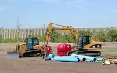 Sarasota Construction - Smaller Caterpillar Equipment (roger4336) Tags: tractor construction florida warehouse cobblestone caterpillar sarasota 315 publix d3 excavator hydraulic 2016 315c palmerranch tracktype d3k