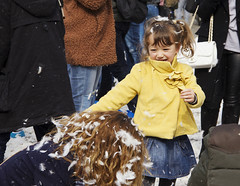 World Pillow Fight Day (ncooper8615) Tags: world amsterdam square fun fight day exterior child dam joy feathers young mother pillow event laughter