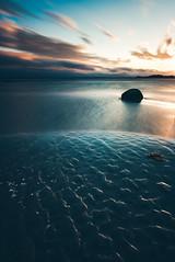 Gone forever.. (Magnus Eriksson75) Tags: ocean longexposure sunset sea beach nature landscape sweden samsung le shore sverige blekinge samyang nx500