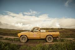 Butterscotch! (Shutter Theory) Tags: rain rally datsun angelesnationalforest weat elizabethlake bulletside pl620 sierrapelona safarigold drivetastefully