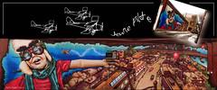 Jeune pilote ... ( P-A) Tags: photos couleurs adorable artiste murale arturbain visiteurs admirateurs agrable amusante styleofframedpictures simpa dessinoeuvre ottawasud partieduhautmontagephotoshop