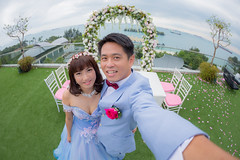 Me and my newly wed wife (BP Chua) Tags: blue wedding me beautiful canon myself singapore gorgeous handsome marriage wed fisheye wife lovely grown selfie widangle 1dx welfie bpchua