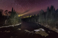 April Aurora (TofteTom) Tags: spring northshore aurora rivers nightsky northernlights auroraborealis northwoods nightscapes tofte temperanceriver sawbilltrail