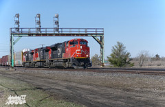 CN 8859 (Ramblings From The 4th Concession) Tags: freighttrains cnrail sd70m2 emdlocomotives parisont cn8859 parisjct cndundassub panasonicfz1000