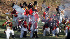 Prelude to a revolution (trochford) Tags: usa history canon eos war exterior outdoor lexington massachusetts smoke newengland battle historic american revolution soldiers muskets british revolutionarywar militia concord americanrevolution minutemen reenactment troops redcoats minuteman gunfire 1775 april19 colonists patriotsday towerpark lexingtonma lexingtonmassachusetts