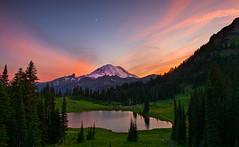 Tipsoo Lake Twilight (joaquinjavier115) Tags: sunset lake washington twilight mt rainier tipsoo