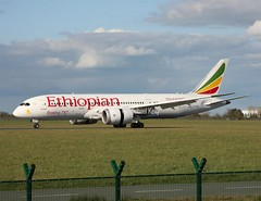 "Ethiopian Airlines                                       Boeing 787 ""Dreamliner""                                 ET-AOV (Flame1958) Tags: travel vacation holiday flying dub dublinairport 2016 050416 0416 ethiopianairlines dreamliner ethiopianairways boeing787 eidw boeingdreamliner etaov ethiopianb787"