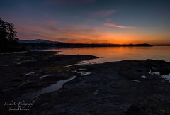 Madrona Point, Parksville, BC (Freshairphotography) Tags: ocean sunset beach colors reflections evening coast vancouverisland westcoast parksville afterglow madronapoint beautifulbc parksvillebc explorebc explorevancouverisland