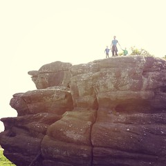 brimhamrocks #geology #rocks #Yorkshire #family #superdad... (nathanrobinson2) Tags: family nature fun twins rocks brothers exploring yorkshire father explore together geology superdad sons brimhamrocks uploaded:by=flickstagram instagram:photo=784002165699248855184137303