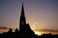 berwasserkirchturmspitzen , Dom , Lambertikirche ( eulenbilder - berti ) Tags: nacht dom stadt mnster ansichten blauestunde stativ lambertikirche nachtaufnahmen