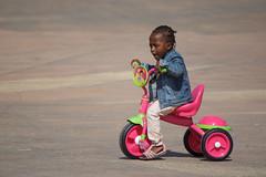 img_2790 (Toon van Dijk - Art) Tags: africa pink people girl children child tricycle senegal dakar toonvandijk