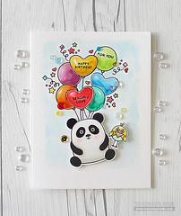 A Cute Birthday Card (RejoicingCrafts) Tags: birthday watercolor cards handmade balloon coloring stamping critters birthdaycard papercrafts handmadecard cardmaking watercoloring simonsaysstamp distressmarkers