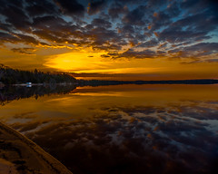 Northwoods Morning (petec1113) Tags: sun lake clouds sunrise spring earlymorning wideangle oneidacounty sonya7