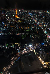 Tokyo Tower (Marek Dekys) Tags: travel light sun color art colors japan skyline night landscape photography design photo high nikon day view dynamic arts picture sigma sharp nightlife d200 exploration range hdr dx 2016 816