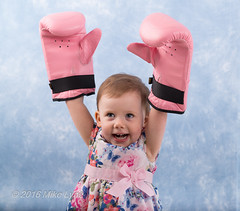The Champion! (trethurffe2001) Tags: portrait england people baby girl studio children lucy warrington child kim unitedkingdom mark father mother bethany pale indoors gloves boxing backround