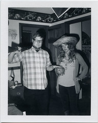 The Detectives (T-Terror) Tags: people jesse polaroid weird blackwhite flash lisa instant day7 polaroidweek fujifp3000b polaroidland350 roidweek roidweek2016