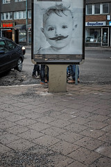 Incognito series #4 (Jani M) Tags: street boy urban feet face legs mustache hiding incognito