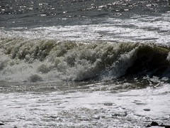 Rolling in (billnbenj) Tags: surf waves spray cumbria barrow hightide walneyisland biggarbank