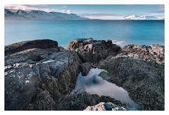 Ocean view (Chris Wolffensperger) Tags: ocean blue sea snow seascape mountains nature water iceland long exposure fuji natur velvia greatphotographers xpro2 fujixf10244ios