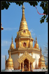 DP1U7133 (c0466art) Tags: trip travel blue light sky cloud tower water beautiful festival canon temple golden scenery bright buddha chinese spill 2016 1dx c0466art