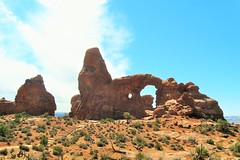 Trail to Turret Arch (Patricia Henschen) Tags: clouds utah moab archesnationalpark turretarch