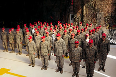 New Mexico Air National Guard hosts Yellow Ribbon Sendoff Ceremony for 210th RED HORSE (nmngpao) Tags: deploy engineer deployment usairforce redhorse kirtlandairforcebase newmexicoairnationalguard 210thredhorse