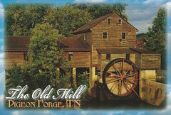 The Old Mill Pigeon Forge, TN Postcards (King Kong 911) Tags: old mill pigeon postcard hpphotosmart7520scanner