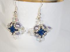 Bead Blue Purple Earrings, Elegant Earrings, Beadwork Blue Earrings, Lilac Earrings, Beaded Earrings, Beaded Earrings, Blue Purple Jewelry (edelweisshu) Tags: blue purple jewelry lilac earrings etsy elegant beaded beadwork edelweisstreasures