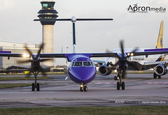 G-PRPL   Flybe   Dash8 Q400 (Andy Crossley - Apronmedia.com) Tags: uk trip travel england industry plane airplane manchester airport media tour power traffic aircraft aviation air united touch transport flight jet machine kingdom down off aeroplane apron landing business company international dash journey transportation airline editorial passenger approach brand runway carrier regional prop airliner turboprop approaching embraer bombardier taxiing crossley taxiway 2016 flybe q400