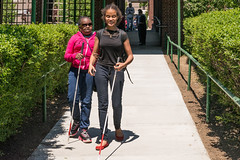 6915 two friends practicing with canes (afb1921) Tags: students bronx afb schoolfortheblind blindchildren americanfoundationfortheblind nyise