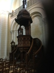 Angouleme's pulpit (KLGreenNYC) Tags: woodwork churches cathedrals angouleme pulpits