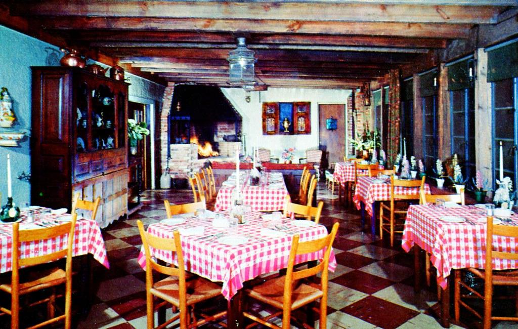 normandy farm cafe calvados rockville md edge and corner wear tags vintage tile - Linoleum Restaurant Interior