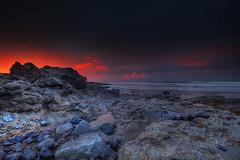 """ OGWR "" (Wiffsmiff23) Tags: ocean rock southwales sunrise fire rocks flames dramatic rage drama epic ogmore ogwr rockpool ogmorebysea heritagecoastline heritagecoastlinesouthwales"