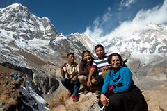 Our team (Pooja Pant) Tags: nepal mountains beautiful trek abc annapurna annapurnabasecamp macchapuchre