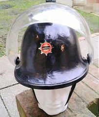 "1980 Brithish Airports Authority Fire Service Helmets Ltd Cromwell F135 ""County"" Fire Helmet (Replica) (Lesopc) Tags: county logo fire 1982 airport sticker edinburgh heathrow glasgow authority helmet crest international aberdeen badge 1984 fireman 1981 service british 1978 1983 airports transfer 1986 1977 1980 limited 1985 baa ltd 1979 stansted 1976 gatwick cromwell prestwick helmets f135"
