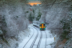 Snow in January 2016 UK (iesphotography) Tags: uk travel winter snow cold weather snowy transport purley 2016 sanderstead southernrail