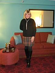 Plaid Pencil skirt with boots (krislagreen) Tags: boots cd tights skirt tgirl transgender transvestite crossdress tg pencilskirt feminized feminiztation
