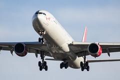 G-VRED Virgin Atlantic Airways Airbus A340-642 (amisbk196) Tags: uk london unitedkingdom heathrow aircraft aviation airbus amis 2016 virginatlanticairways a340642 gvred