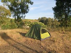 Im Zelt herrscht Ruhe (pilgerbilder) Tags: pilgern pilgerfahrt pilgertagebuch vadellaplata cceresalcntara