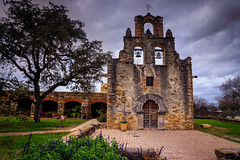Mission Espada (Jim Nix / Nomadic Pursuits) Tags: travel church architecture sanantonio texas sony landmark historic mission bluehour fullframe missions hdr missionespada lightroom spanishmission mirrorless nomadicpursuits jimnix sonya7ii
