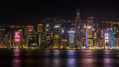 A Symphony of Lights (Fizzik.LJ) Tags: skyline night hongkong skyscrappers victoriaharbour symphonyoflights