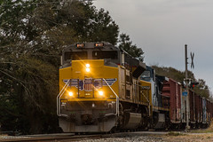 UP 8987 (gameover340) Tags: railroad up train louisiana tracks unionpacific ge freight csx manifest emd ac44cw boxcarlogo sd70ah updequincysubdivision mcxew