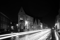 Ribe at Night (virtualwayfarer) Tags: city longexposure nightphotography travel light blackandwhite canon denmark countryside exposure village traffic streak streetphotography roadtrip historic unesco dk nightphoto traveling dslr danmark oldest afterdark ribe worldheritage blackandwhitephotography lightstreak jutland jylland nighttraffic waddensea canon6d oldesttown alexberger virtualwayfarer visittodenmark roadtripdenmark